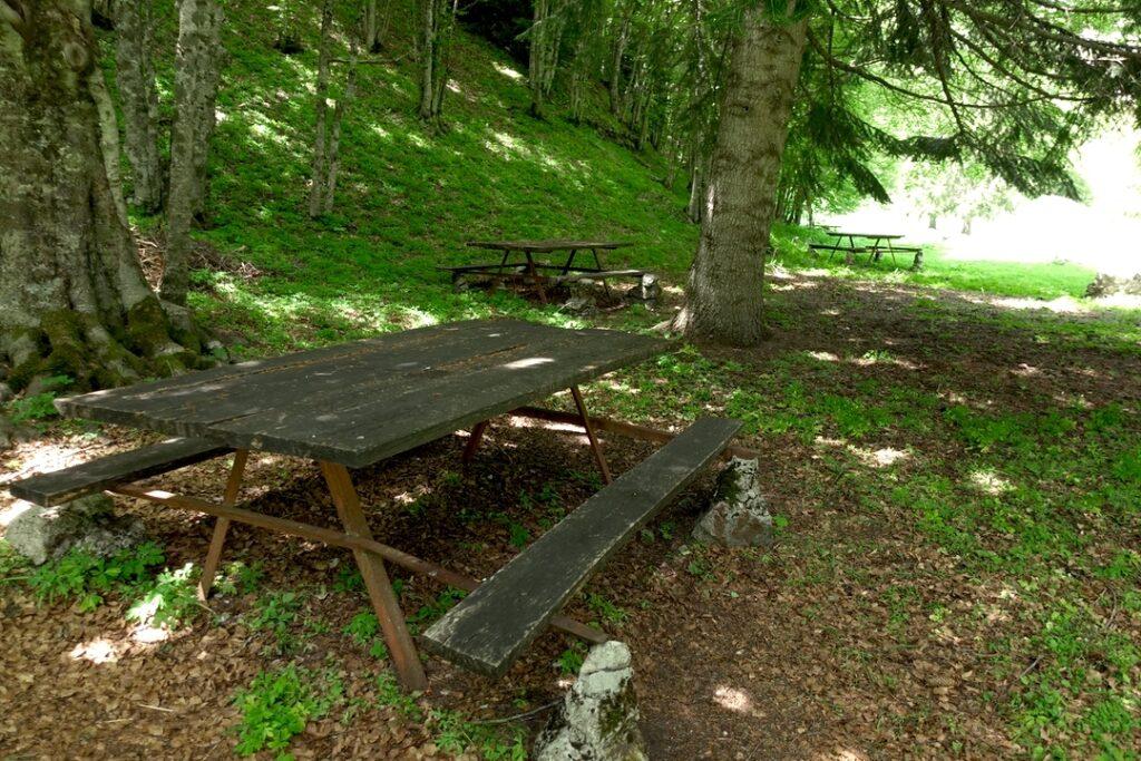 area barbecue montagna spaccata